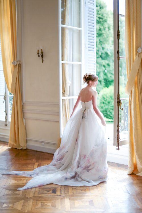 mariée dans le château de santeny