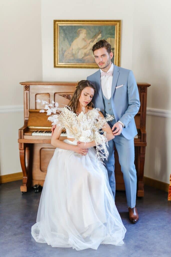 couple mariés chateau en essonne