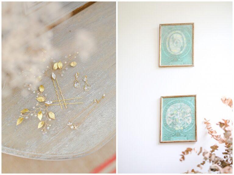 bijoux de mariée dorés