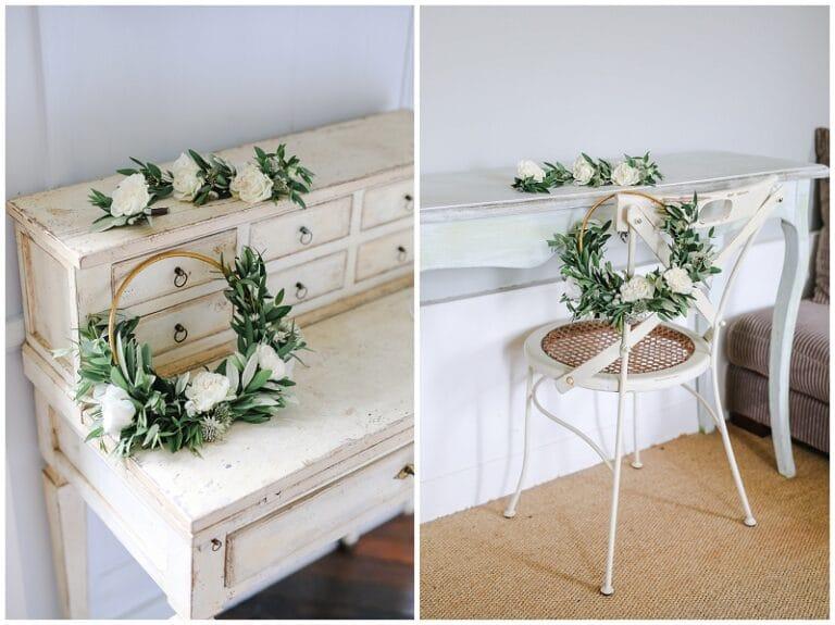 boutonnière et bouquet de fleurs végétale