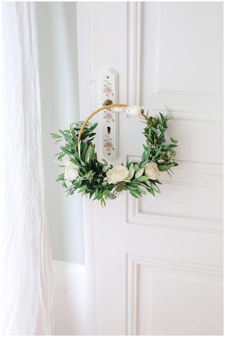 bouquet de mariée en forme de rond
