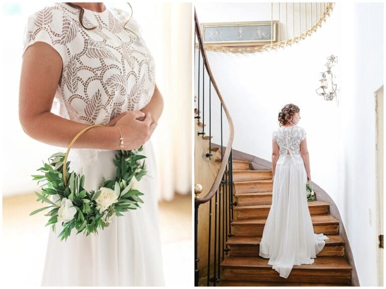 mariée dans les escaliers