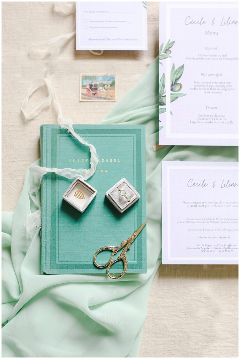 papeterie mariage thême vert