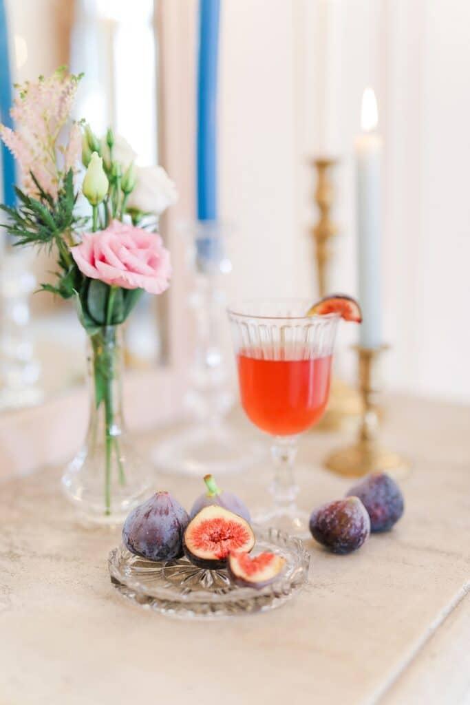cocktail avec figue pour vin d'honneur