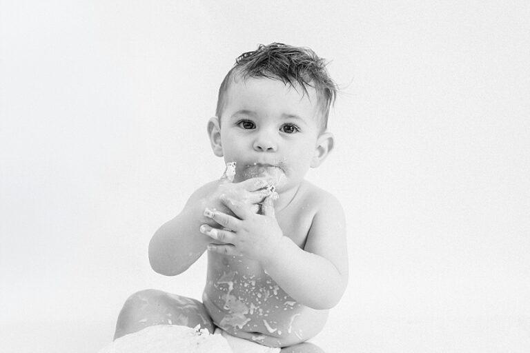 photo noir et blanc de bebe