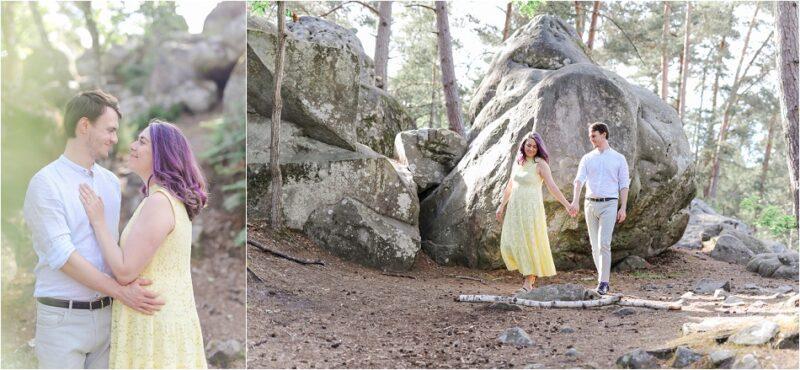 seance photo en couple à bois le roi