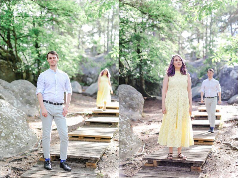 portrait de couple en forêt