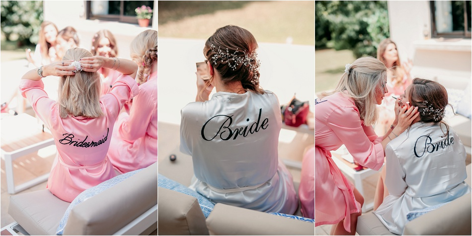 demoiselles d'honneur en kimono bride