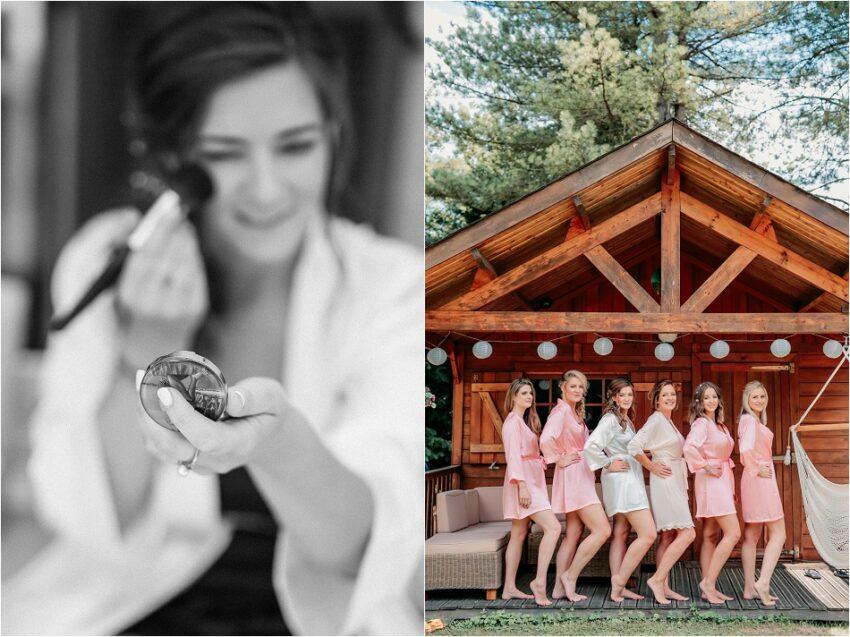 bridesmaids with kimono