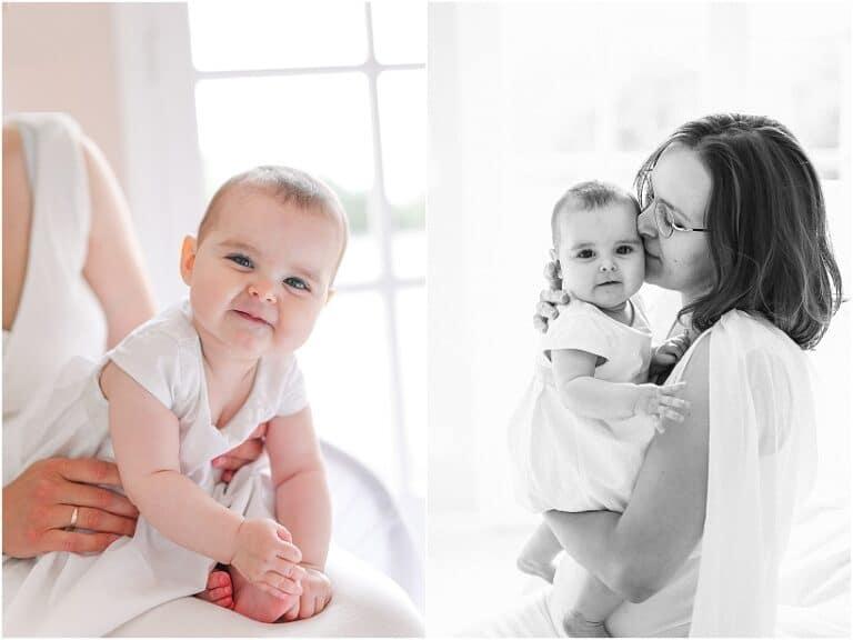 portrait de bébé avec maman