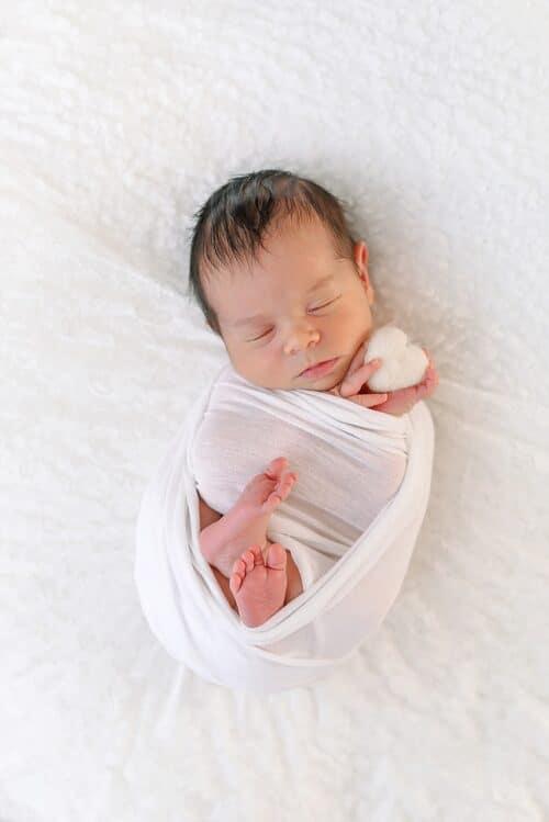 portrait bebe pour une seance photo