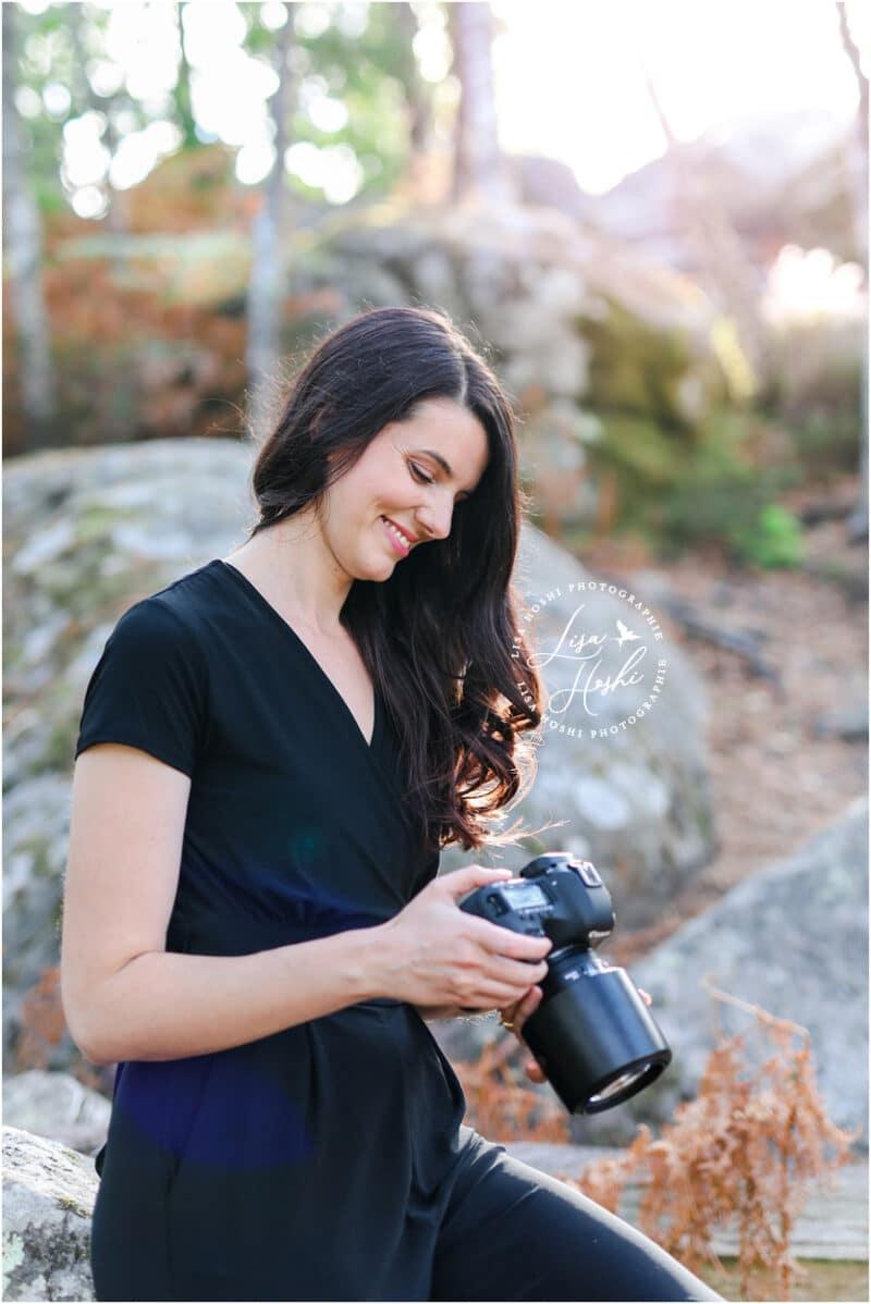 portrait de photographe en forêt