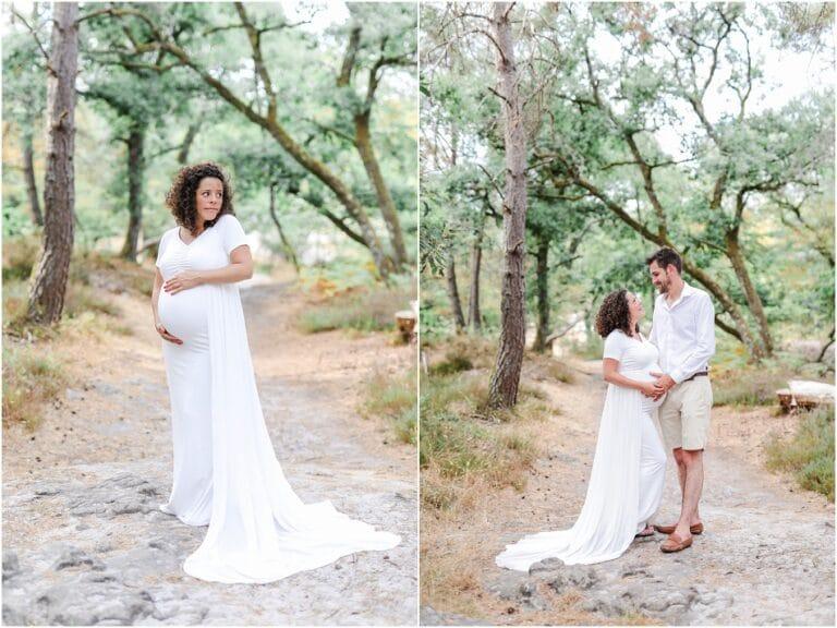 séance grossesse en forêt à fontainebleau