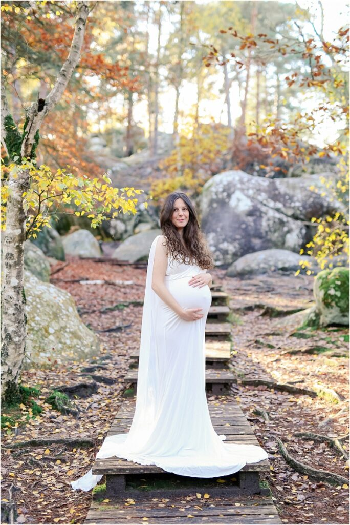 robe de grossesse pour séance photo