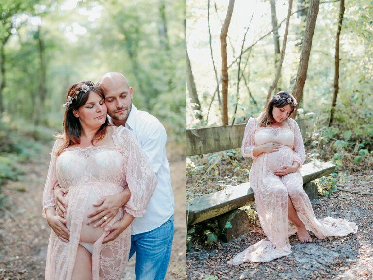 séance en couple pour une grossesse ne forêt