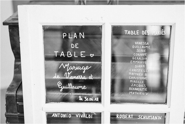 plan de table mariage fenetre