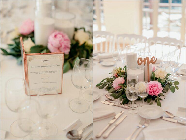 décoration de table centre fleurs