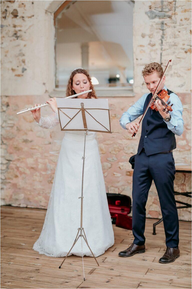 violonnistes à un mariage