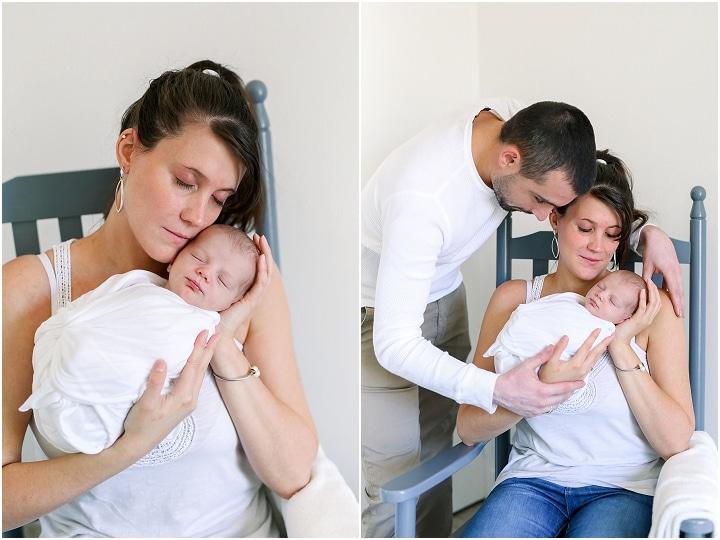 faire une séance photo à la maison avec bébéavec papa et maman