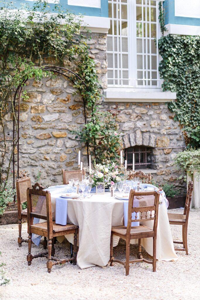 idée de table en exterieur pour un mariage