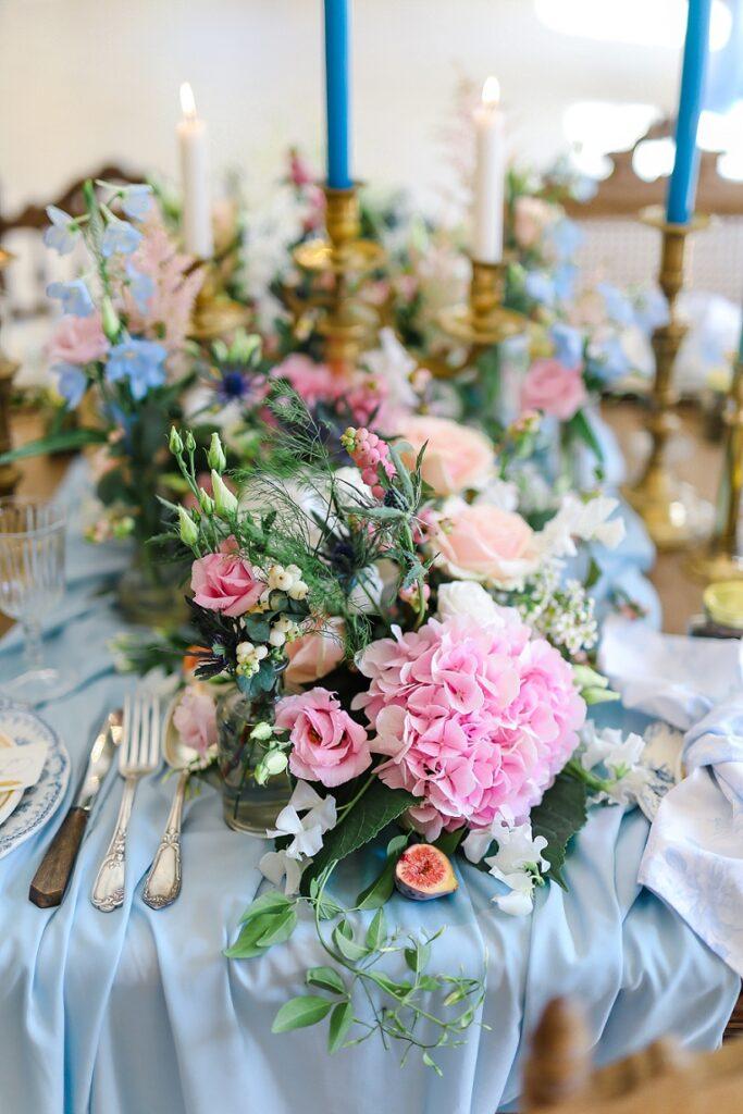 composition florale centre de table